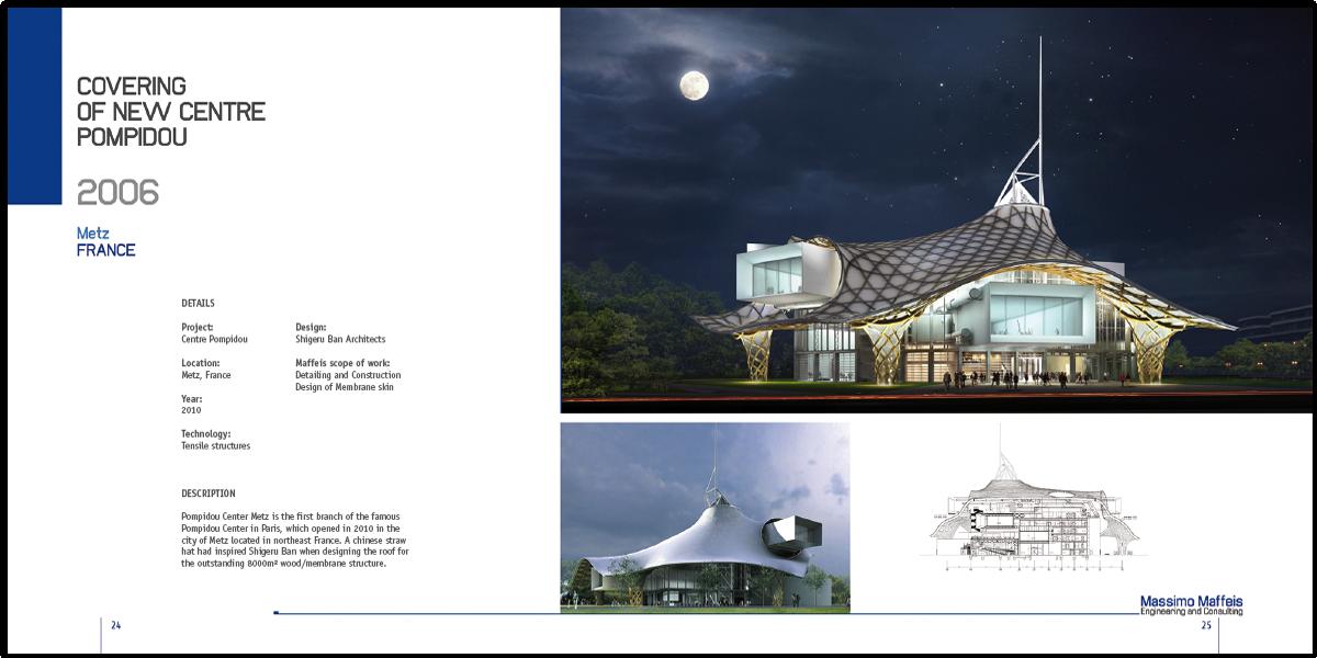 Brochure pour le bureau d'architectes et ingénieurs Maffeis engineering. Design graphique Katia Lorenzon
