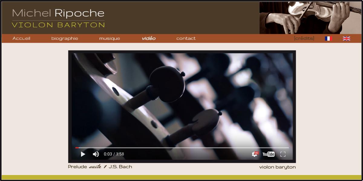 Site web du musicien Michel Ripoche. Design katia lorenzon
