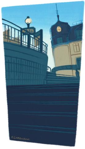 "Illustration ""Calme et silence, à l'aube"". Katia Lorenzon"