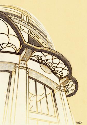 La Grande Épicerie de Paris entree. Illustration : katia lorenzon