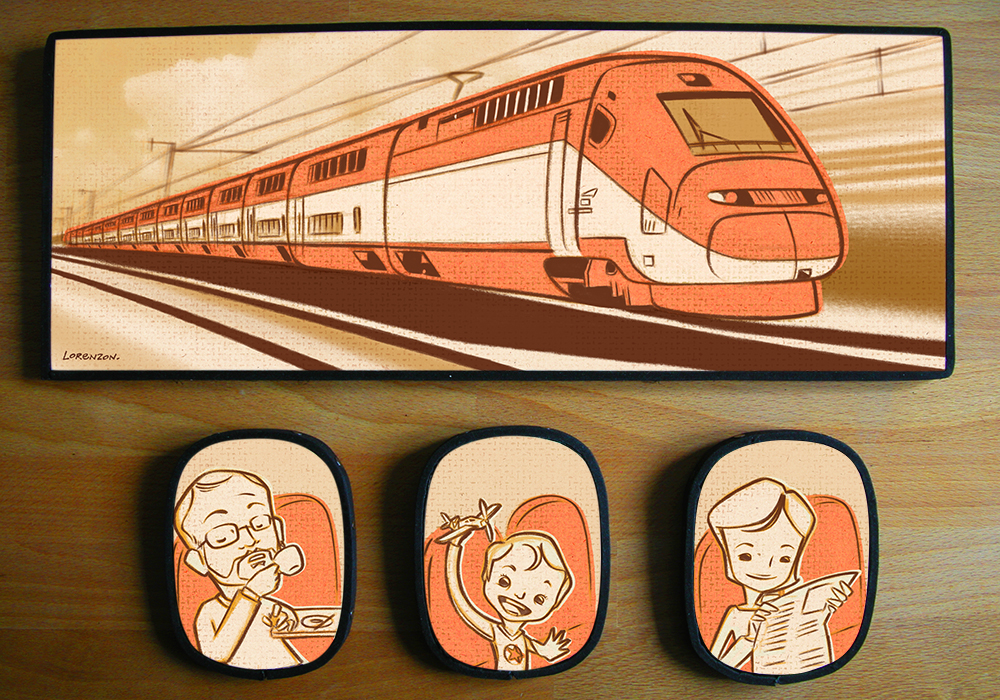 Portraits, exterieur : train. Realisations3, Katia Lorenzon